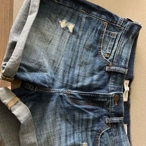 Banana Republic Roll-up Denim Shorts, size 26